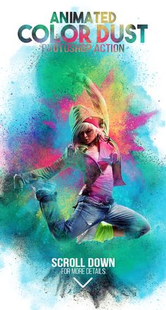 Animated Color Dust Photoshop Action — Photoshop ATN #new #atn • Download ➝ https://graphicriver.net/item/animated-color-dust-photoshop-action/19488613?ref=pxcr