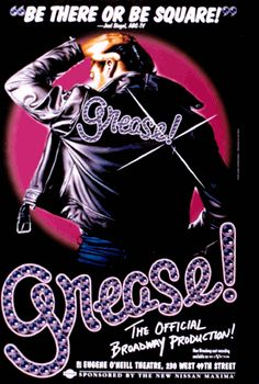 Grease the Musical Broadway Poster (1994 Revival) This is on my bucket list - seeing the Grease musical, my bestie went in high school and I was sooo jealous!!