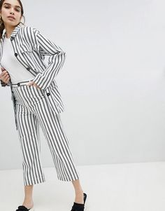 Monki   Monki Wide Leg Striped Pants Striped Pants, Fashion Online, Trousers,  Asos 6770138b87