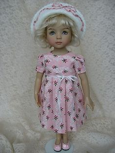 Pink-dress-and-embroidered-hat-13-Dianna-Effner-Little-Darling-doll-Tomi-Jane. SOLD for $60.00