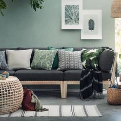 25 Of The Best Places To Buy Inexpensive Home Decor Online Decor Room, Living Room Decor, Wall Decor, Sweet Home, Diy Casa, Large Storage Baskets, Inexpensive Home Decor, H&m Home, Home Decor Online