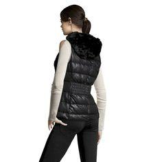 Reversible Faux Fur Vest In Black (KCOLE02 1105157)