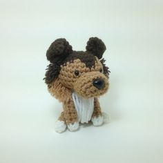 Collie Sheltie Crochet Dog Amigurumi Puppy Plush Toy Knitted Doggie Doll / Made to Order