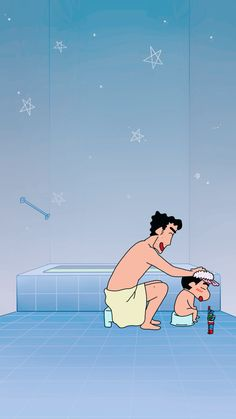Shinchan taking a bath Sinchan Wallpaper, Black Phone Wallpaper, Cute Disney Wallpaper, Cute Cartoon Wallpapers, Pretty Wallpapers, Sinchan Cartoon, Cartoon Shows, Cartoon Characters, Crayon Shin Chan