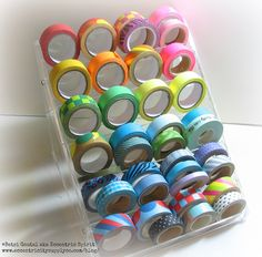 Washi tape storage idea! I need this in my craft space.