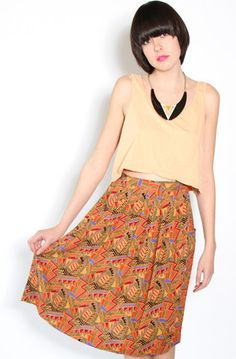 Geometric Print Skirt from Yo Vintage!