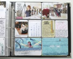 Ali Edwards Project Life - This is a way I might actually be able to scrapbook, and I just like the look of it.
