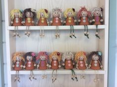 Flower pot people by handmadeiow on Etsy