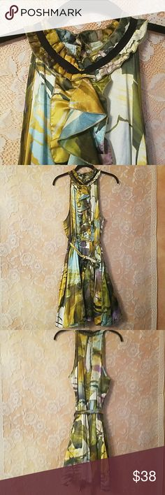 ANTHROPOLOGIE WESTON WEAR DRESS OLIVE MULTI SZ L ANTHROPOLOGIE WESTON WEAR DRESS OLIVE MULTI COLOR SIZE LARGE IN EUC FULLY LINED SKIRT 1 BUTTON CLOSURE ON BACK FEEL FREE TO ASK QUESTIONS OR MAKE OFFER Anthropologie Dresses