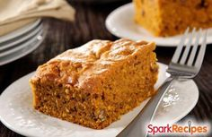 Pumpkin Pie Dump Cake via @SparkPeople
