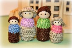 Wooden Peg Doll Family - Poppie People/The Browning Family
