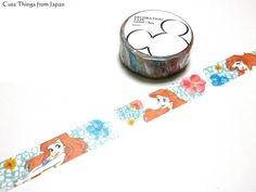 Disney Store limited edition little mermaid washi tape great for your craft project and embellishment!  * 1.5cm x 8m (0.6 inch x 8.74 yards)