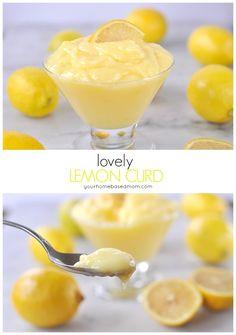 lemon curd @yourhomebasedmom  Sunshine on a spoon