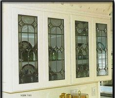 Leaded glass Kitchen Cabinet inserts Handcrafted & Made to order Free Shipping | Home & Garden, Home Improvement, Building & Hardware | eBay!