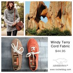 Never underestimate the chic-ness of a simple yet casual shoe. Mixed with your rolled boyfriend jeans (add tights) and a crisp white shirt, cardigan sweater and it's pure fashion. Shop the Windy Terry Cord #RocketDog #Shoes