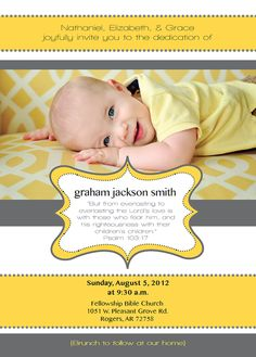 baby's dedication invitation | DIY Invitations | Pinterest | Baby ...