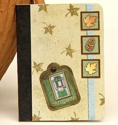 Camping Mini Journal Altered Composition Book