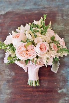 Need a bridal bouquet inspiration for your wedding? Consider the white bridal bouquet. While we love scoping out all of the innovative floral designs that are out there, a white bouquet will forever be timeless. Bridal Bouquet Pink, Blush Bouquet, Blush Wedding Flowers, Blush Pink Weddings, Bride Bouquets, Bridal Flowers, Floral Wedding, Trendy Wedding, Bouquet Wedding