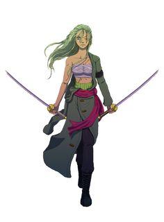 Final female Zoro by Shrinkhead13