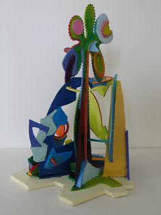 Split Paradise, 2009 secondview  Cardboard sculpture painted in encaustic  SSCrowe