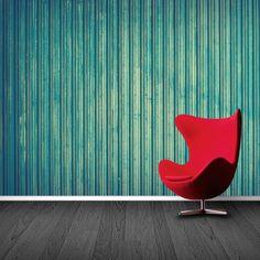 Fotobehang Dun hout   Maak het jezelf eenvoudig en bestel fotobehang voorzien van een lijmlaag bij YouPri om zo gemakkelijk jouw woonruimte een nieuwe stijl te geven. Voor het behangen heb je alleen water nodig!   #behang #fotobehang #print #opdruk #afbeelding #diy #behangen #hout #turquoise #groen #houten
