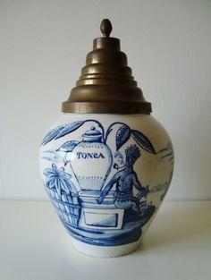19th Century DELFT TOBACCO JAR *TONCA*