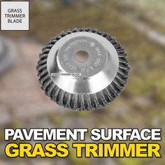 Unbreakable Wired Trimmer Blade - Tired of your trimmer being too weak to cut tough weeds? Replace your trimmer head with the Break Proof Steel Trimmer Blade that slices through grass, branches, weeds super FAST! Outdoor Projects, Garden Projects, Garden Tools, Landscape Design, Garden Design, Cool Tools, Backyard Landscaping, Gardening Tips, Organic Gardening