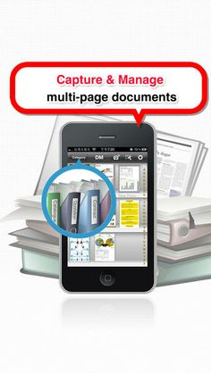 [$] Snap2PDF at https://itunes.apple.com/us/app/snap2pdf-scan-documents-share/id472940721?mt=8 Use your phone's camera to digitize paper documents as PDFs with multiple pages per file. A [Free] alternative is CamScanner.