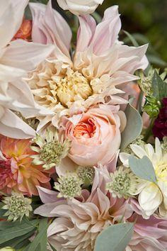 Peony and dahlia | Paper and Primrose Photography and Westwood Design | see more on: http://burnettsboards.com/2014/10/bohemian-opulence/
