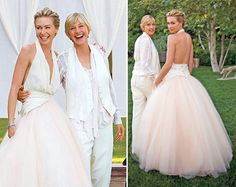 Gorgeous couple!!! @Ellen DeGeneres  ...@Victoria Leach I know Portia's dress is your dream dress!! :D