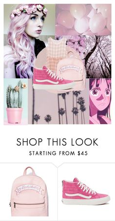 """PINK!"" by trvdie ❤ liked on Polyvore featuring Vans, women's clothing, women, female, woman, misses, juniors, Pink, pastel and pastelpink"