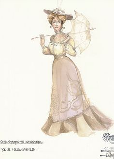 She Stoops to Conquer (Kate Hardcastle). Costume design by Rachel Anne Healy. Theatre Costumes, Movie Costumes, Character Costumes, Victorian Era Dresses, Victorian Costume, Vintage Outfits, Vintage Gowns, Fashion Illustration Vintage, Illustration Mode