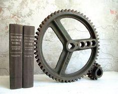 Industrial Cast Iron Gear Wheels 14 Inch Circular Gear & | Etsy