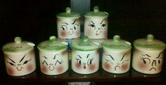 DeForest of California Bar-B-Cutie Anthropomorphic Condiment Jars - Complete Set