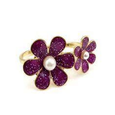 Vintage Amethyst Folower Charming Ring DC6R501 $1.50