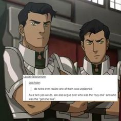 I have no idea where the characters in the background are from but the post is funny