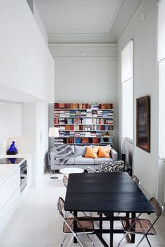 Long and narrow, but that shouldn't stop you from having your living room, dining room AND kitchen! Inspired.