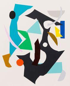 Kirra Jamison - Locomotor + Melbourne Art Fair - The Design Files Modern Art, Contemporary Art, Melbourne Art, The Design Files, Australian Art, Geometric Art, Art Fair, Collage Art, Collages