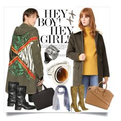 """""""Girl  & Boy..**"""" by yagna ❤ liked on Polyvore featuring A.P.C., Faith Connexion, Gianvito Rossi, Dsquared2, Givenchy, MAHA LOZI, AllSaints, Pamela Love, Faliero Sarti and Cantini MC Firenze"""