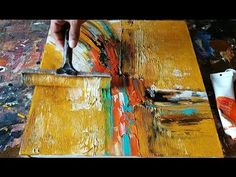 Abstract Painting / How to make EASY Abstract painting WITH different techniques / Demonstration - YouTube