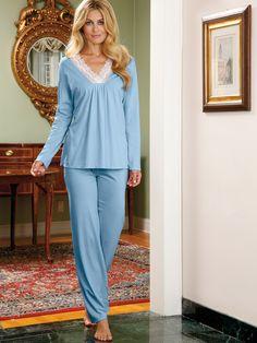 dc5003ea8e Veronica Nightgown  Blue Luxury Nightwear
