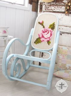 Shabby Chic Bentwood Rocking Chair....time to bring out and paint the old bentwood rocker