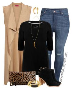 """""""Plus Size - Fall Look"""" by alexawebb ❤ liked on Polyvore featuring H&M, Ted Baker, Clare V., Vince Camuto and Marlyn Schiff"""