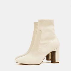 Image 6 of HEEL DETAIL ANKLE BOOTS from Zara
