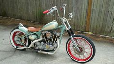 1979 ironhead bobber built by Dave Johnson in Clearwater Florida