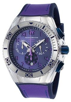 Men's Cruise Calif. Chrono Blue Silicone Purple Canvas Blue Dial