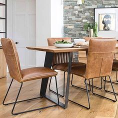 Luxury faux dining chairs with steel frame. Grey Faux Leather Dining Chairs and Tan Brown Faux Leather Dining Chairs come with Free UK Delivery. Faux Leather Dining Chairs, Industrial Dining Chairs, Wooden Dining Tables, Industrial Office, Kitchen Table Bench, Dining Room Table, Iron Furniture, Welded Furniture, Comfortable Dining Chairs