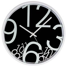 LGI Quartz Wall Clock  Modern Contemporary Wall Clock  Select your Color Black -- More info could be found at the image url.