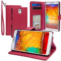 Wallet Leather Folio Stand Case with Card Holder for Samsung Galaxy Note 3 III | eBay $8.99