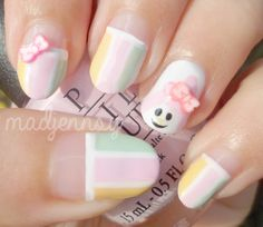 Sanrio My Melody Nail Art   Watch HD Tutorial! https://youtu.be/QgMPwJZO55k  #nails #nailart #madjennsy #mymelodynails #sanrionails #cutenailart #naildesign #tutorial